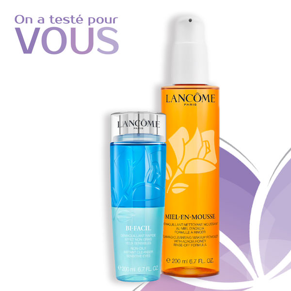 test rooutine demaquillage lancome miel en mousse bi facil