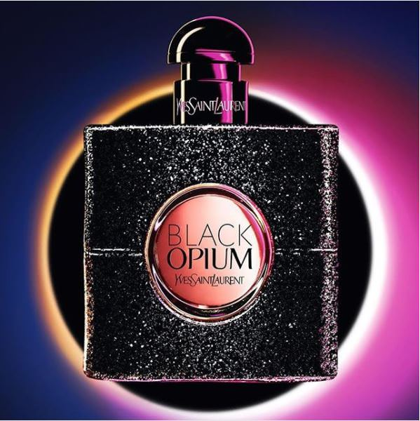 le flacon rock du black opium d'YSL