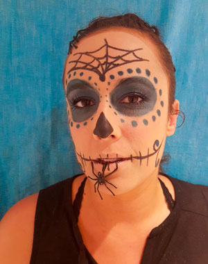 maquillage halloween sugar skull