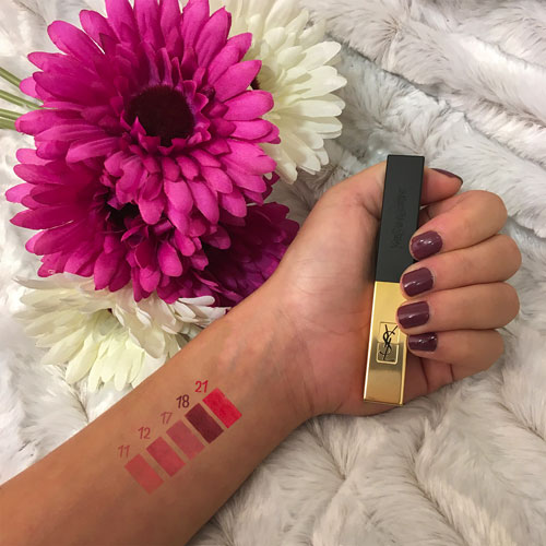 swatch du rouge pur couture the slim d'yves saint laurent