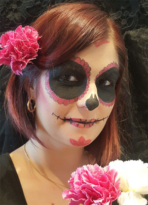 maquillage halloween tete de mort mexicaine