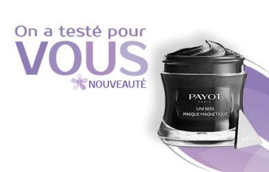 test masque magnétique uni skin payot