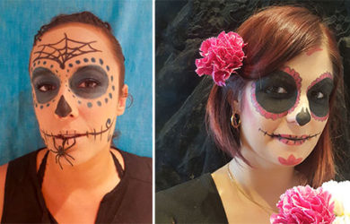 idées maquillage faciles halloween