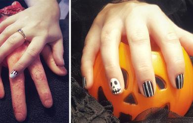 tuto nail art halloween facile et effrayant